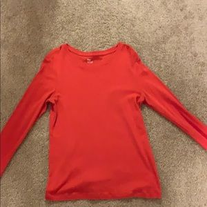 Long sleeve orange shirt
